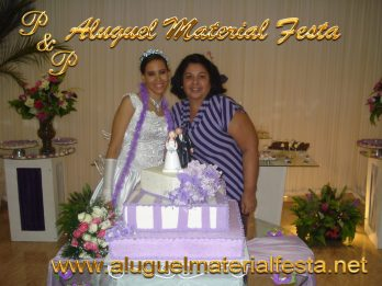 aluguel material festa de casamento