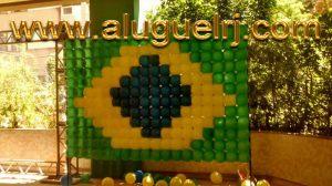 Decoração Balões Bandeira Brasil