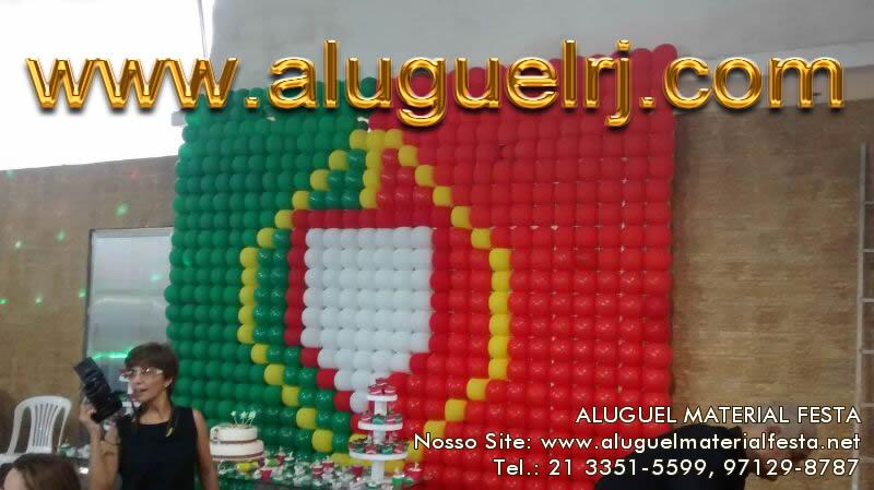 Decoração com Balões Bandeira de Portugal