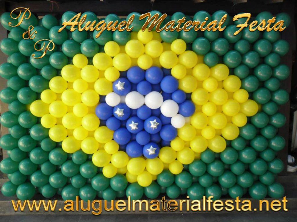 Decoração Bola Bandeira Brasil