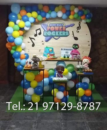 Decoração Festa Tema Mini Beat Power Rockers