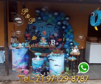Decoração Festa Fundo do mar
