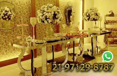 Aluguel Mesa Espelhada Casamento