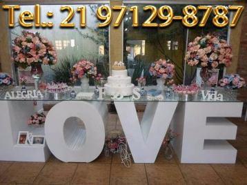 Aluguel Mesa Love Casamento Rio de Janeiro