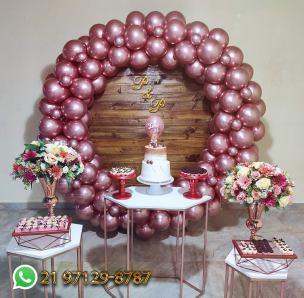 Decoração Rose Gold Aniversario
