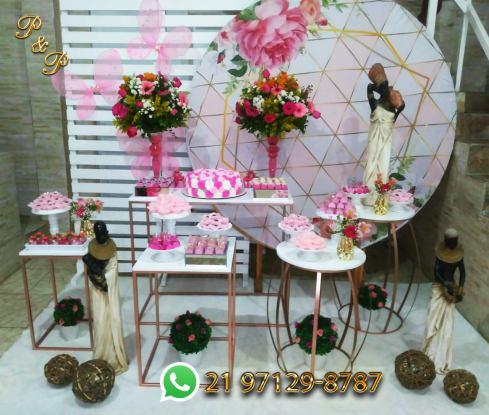 Decoração de Festa Rose Gold